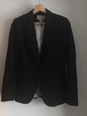 schwarzer langer blazer von h&m