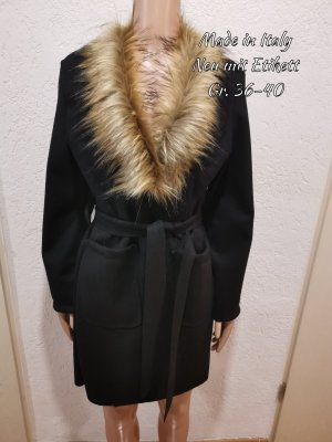 Made in Italy Robe manteau noir