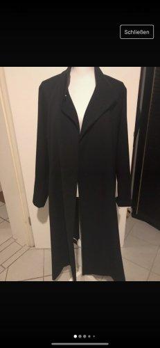 Stefanel Długi płaszcz czarny