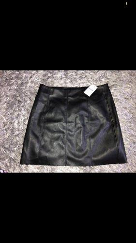 Pimkie Falda de cuero negro