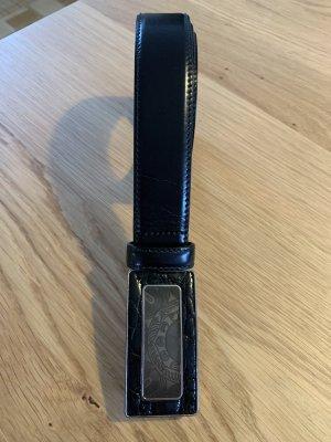 Prada Cinturón de cuero negro