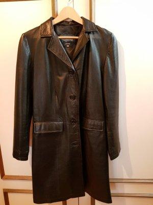 Vera Pelle Abrigo de cuero negro