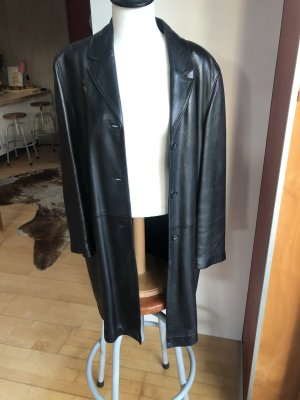 Yazoo Skórzany płaszcz czarny Skóra