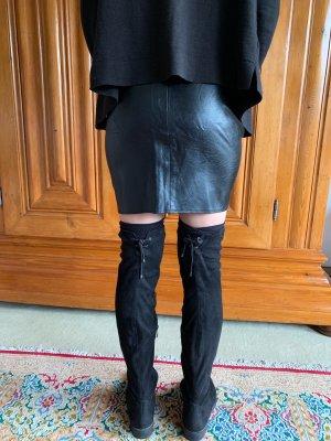 Missguided Falda de cuero negro
