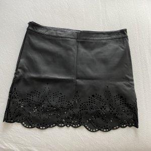 Ann Christine Skórzana spódnica czarny