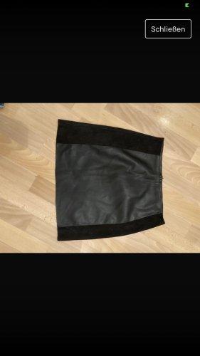 Only Leren rok zwart