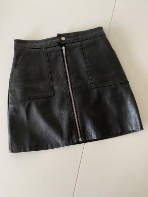 SheIn Leren rok zwart