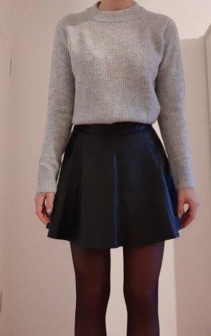 H&M Circle Skirt black imitation leather