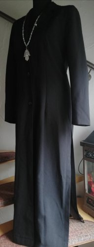 Gabardina tipo vestido negro