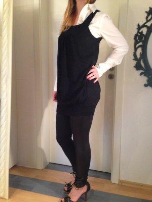 schwarzer leichter Strickpulli/Kleid, von Comma, Größe S