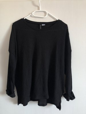 Schwarzer lockerer Pullover