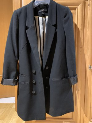Schwarzer Longblazer / Mantel
