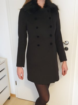H&M Abrigo ancho negro