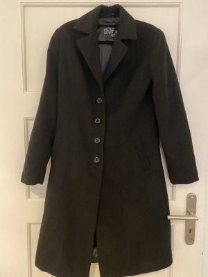 Schwarzer Mantel Caban