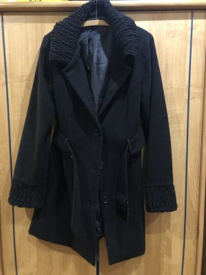 1982 Manteau mi-saison noir polyester