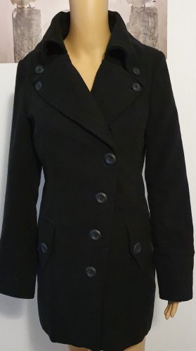 Schwarzer Mantel Gr. S Damen
