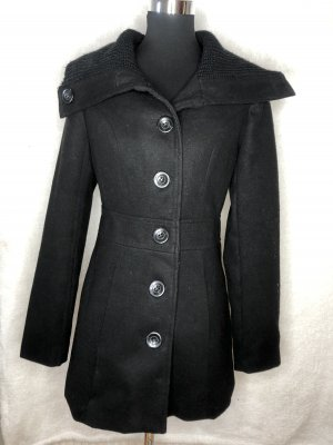 Schwarzer Mantel Größe 40