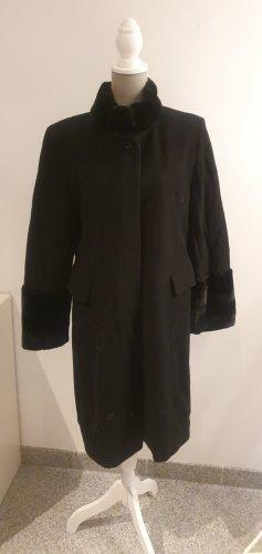 Anna K Heavy Pea Coat black wool