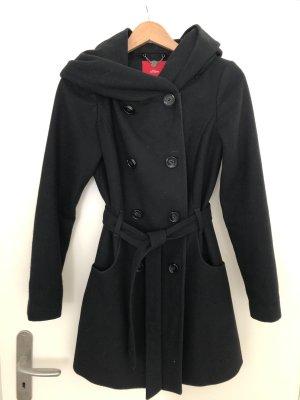 s.Oliver Hooded Coat black