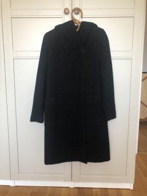 Hallhuber Abrigo de lana negro
