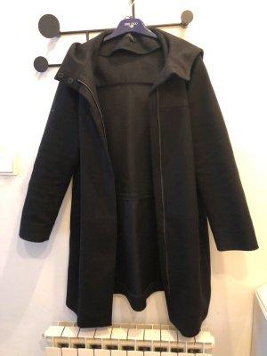 COS Cappotto invernale nero Lana d'alpaca