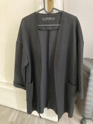 Zara Manteau en cuir noir