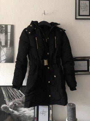 Tally Weijl Pikowany płaszcz czarny