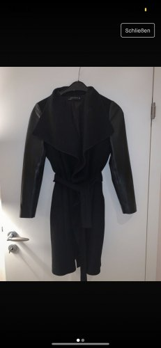 Zara Leather Coat black