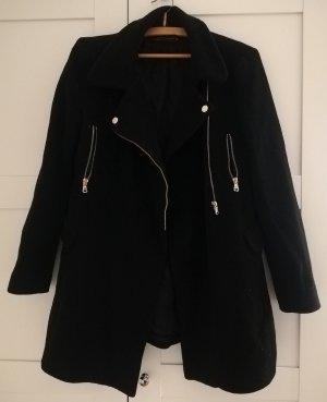 Schwarzer Mantel Zara Größe 36