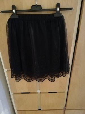 H&M Divided Falda de tul negro Poliéster
