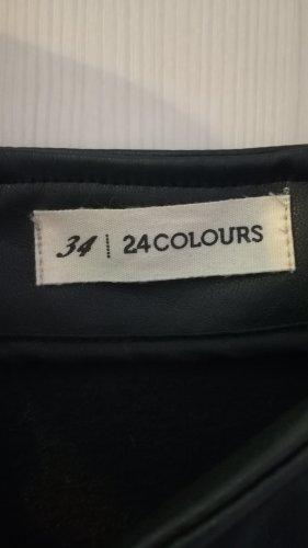 24Colours Plaid Skirt black
