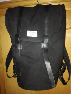 Laptop Backpack black cotton