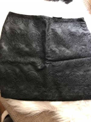 Gina Faux Leather Skirt black
