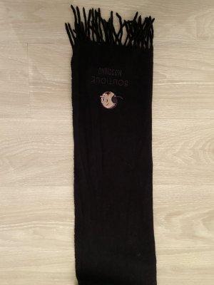 Boutique Moschino Wełniany szalik czarny Wełna