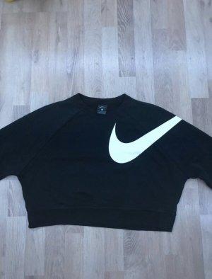 Schwarzer Nike crop Pullover
