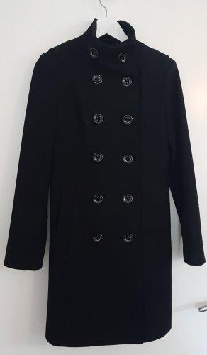 Schwarzer Only Mantel mit abnehmbarem Schlauchschal, Größe S / Größe 36