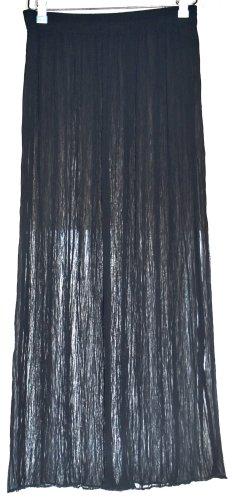 Falda larga negro Poliéster