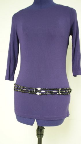 Chain Belt black-silver-colored glas