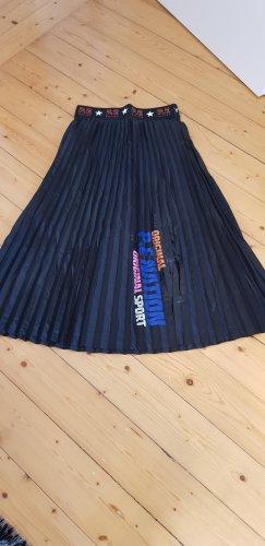 H&M Basic Plisowana spódnica czarny