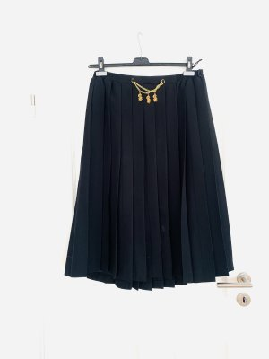 Meico Pleated Skirt black-gold-colored polyester