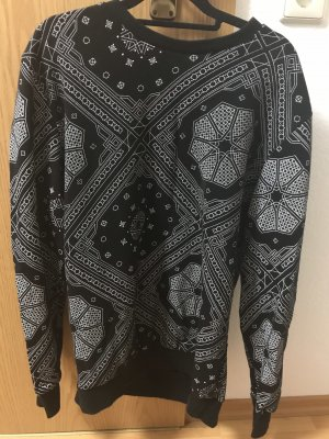 H&M Divided Crewneck Sweater black-white