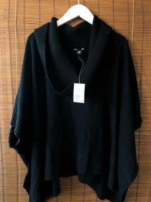 Schwarzer Poncho Pullover Oversize Onesize