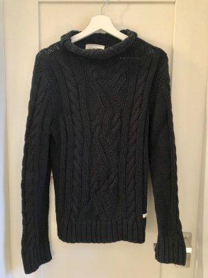 Marc O'Polo Grof gebreide trui zwart