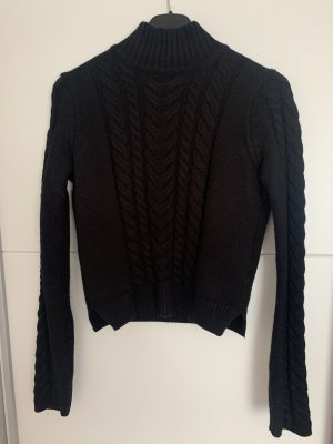 100% Fashion Knitted Sweater black