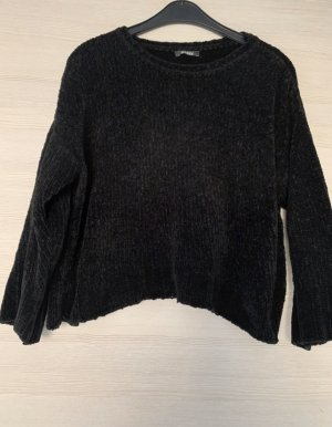 addax Sweter z okrągłym dekoltem czarny