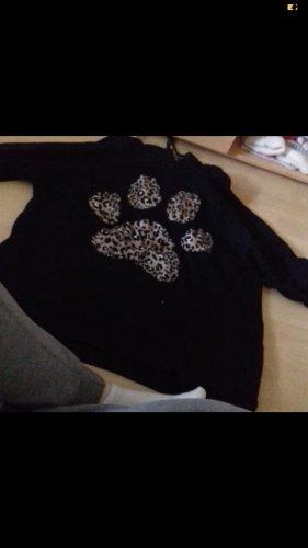 Ann Christine Capuchon sweater zwart-brons