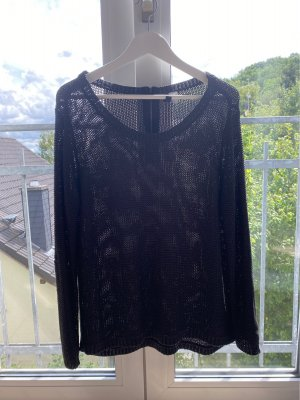 H&M Crochet Sweater black