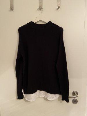 BODY FLIRT Długi sweter czarny-biały