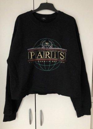 """schwarzer Pullover cropped """" Paris"""" Damen Größe S River Island"""