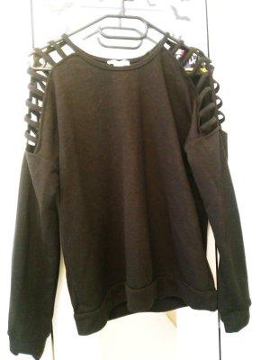 schwarzer Pullover Gr S